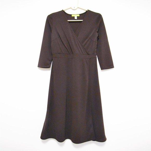 Sigrid Olsen Stretchy Classic Faux Wrap Dress SP